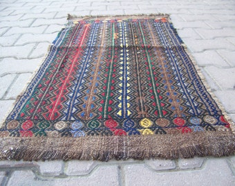 1'7'' X 2'3'' / 52x72 cm Vintage Handwoven Small Tribal Turkish Mat Rug, Floor Carpet Mat, Teppich Wolle Boden,Entryway Kilim Cicim Rug,