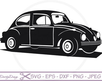 VW car Vector files SVG File for cricut, SVG files old car, Instant download, vector file, eps, jpg, png, vinyl, dxf files, clipart car
