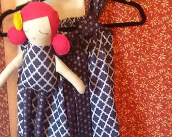 Girl's Pillow Case Dress with Matching Meadow Doll
