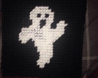Samhain Treats Ghost coaster; Double sided