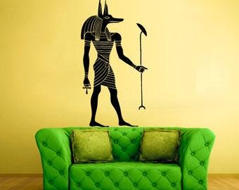 rvz217 Wall Sticker Egypt Anubis Key Bedroom Decal