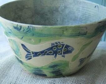 Five Fish Large Bowl