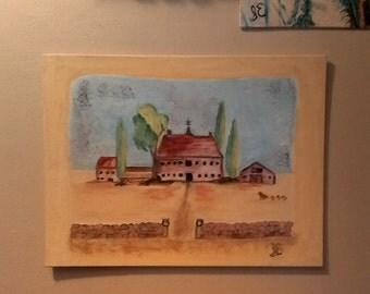 """The Old Inn 12""""x16"""" oil on canvas"""