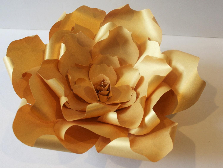 Gold giant Paper flower Paper backdrop wedding flower
