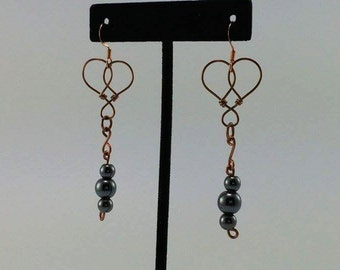 Hemalyke heart earrings