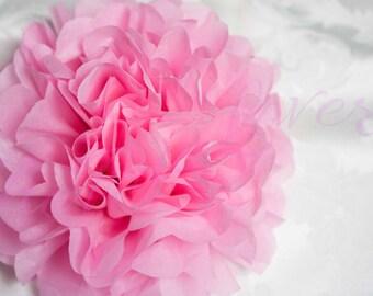 RASPBERRY/tissue paper Pompoms,single pompom,nursery room decoration, baby shower,wedding,birthday,engagement,bridal shower,DIY,centerpieces