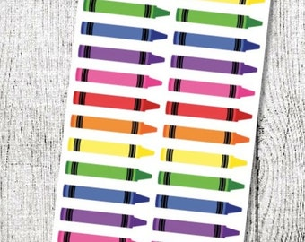 Crayon Planner Stickers