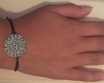 Black Leather Cord Bracelet