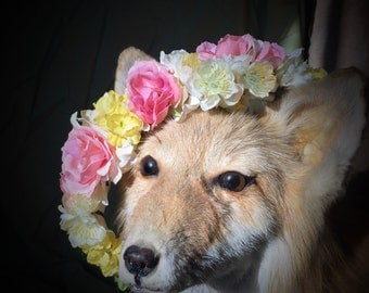 Pretty Pink Flower Crown