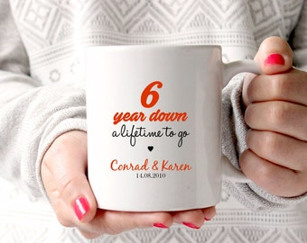 6th Anniversary Gift Wedding 6 Years Marriage Personalised