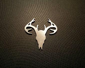Deer Skull Stamping Blank, custom cut stamping blank, hand cut stamping blanks, hand stamping Supplies, deer blank, hunting blank, QTY 5
