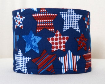Male Dog belly band - Dog diaper - Potty training aid - house breaking - incontienence wrap - July 4th Stars - READY TO SHIP