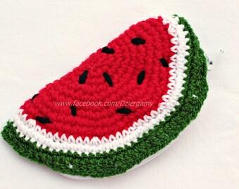 Watermelon wallet - no sticky cheeks