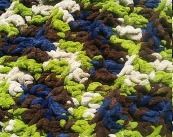 WOODLANDS! hand crochet baby/toddler afghan/blanket/boy
