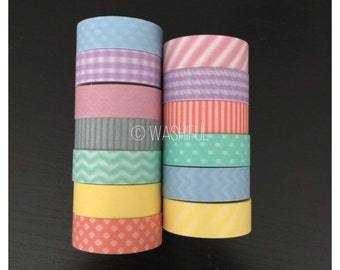 """CLEARANCE! 24"""" SAMPLES of Pastel washi tape SAMPLES (M34)"""
