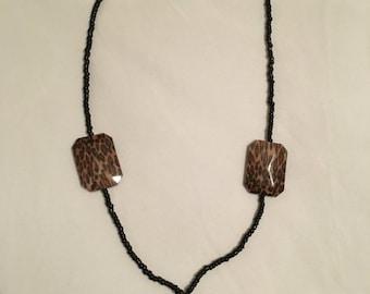 Animal print necklace