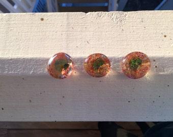 Orange Sorbet Glitter Magnets