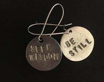 Seek Wisdom~Be Still