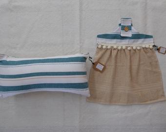 Cushion and Hand Towel Set