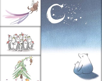 Pack of 12 Assorted Christmas Cards