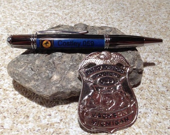 Custom thin blue line pen