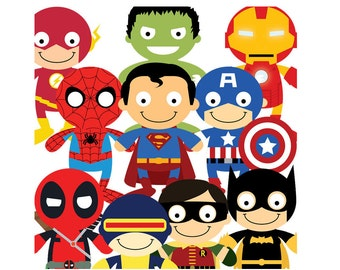 Superhero 10 PNG files clipart