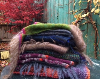 Handknit shawls and scarves