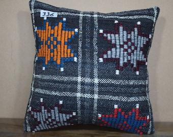"""Handmade Turkish Kilim Pillow,Kilim Cushion Cover Throw Pillow Turkey Kilim Pillow 16"""" x 16"""" 40cm x 40 cm SP40-336"""
