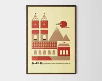 Calexico Linz silkscreen poster
