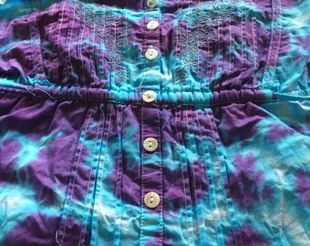 Sz 14 Upcycled Tie Dyed Top