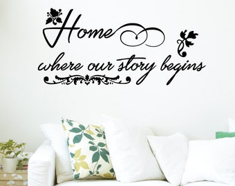Home Where Our Story Begins Wall Decal Sticker VC0195