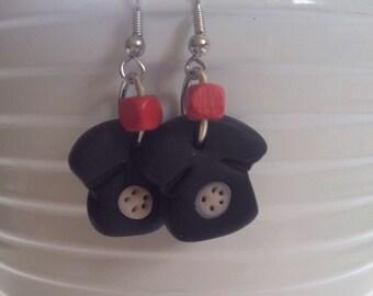 Telephone clay dangle earrings