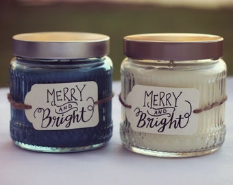 Handlettered Candles