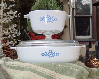"Rare Vintage Corning Ware ""Petite"" P-43-B - 2 3/4 Cup Casserole / Serving Dish"