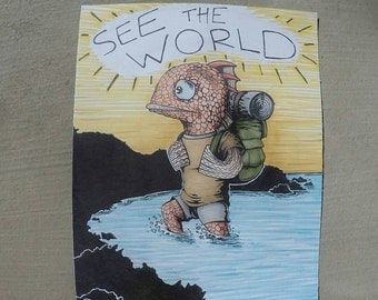 Fishventure; Going to See the World Original Artwork