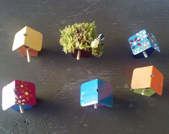 Brightly Colored Miniature Bird House
