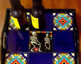 Day of the dead Beer and Tacos Coffee table tray / soccer gift ideas / Men Turning 40 gifts / Father's Day Gifts/ Gifts Under 100/Dad Gift