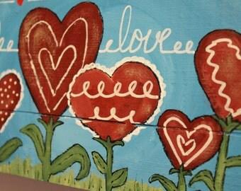 Wall hanging, Love, Hearts