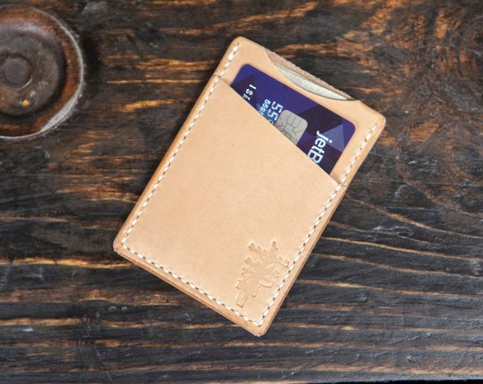 Minimalist Wallet Cardholder Wallet Front Pocket Wallet Simple Wallet Leather Wallet Hand Saddlestitched Vegtan Wallet Handmade Wallet