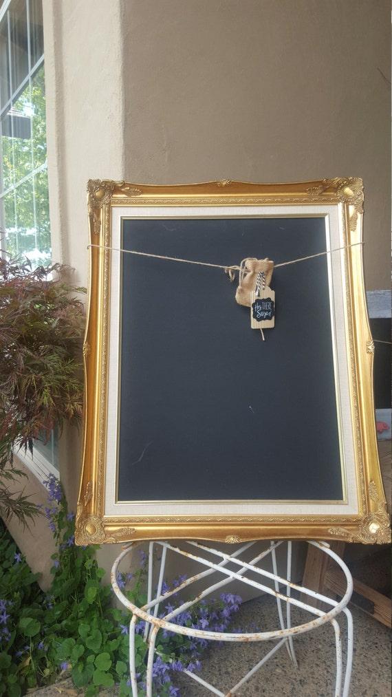 Large gold framed chalkboard for sale dining room decor for Framed pictures for dining room