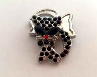 18mm Black Cat Snap Charm