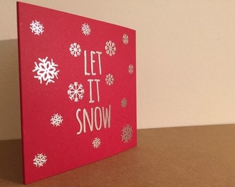 Let it snow! Christmas cards - pack of 5