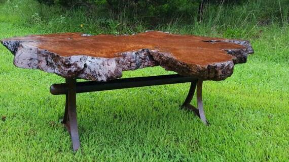 coffee table redwood burl coffee table custom metal live. Black Bedroom Furniture Sets. Home Design Ideas