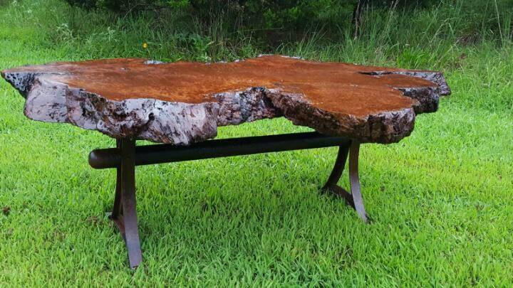 Coffee Table Redwood Burl Coffee Table Custom Metal Live