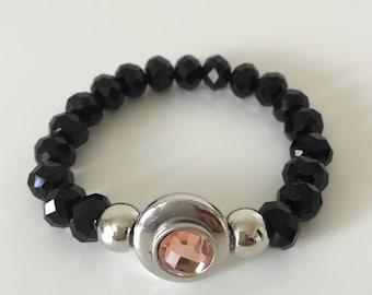 Casual Wear, Gorgeous Bracelet, Lady's Bracelets, Black Quartz Stone Bracelets, Stone bracelets, Bead-work bracelets, Women Bracelets.