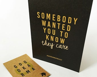 Send Good Karma Anonymously with a Keepsake Greetings Card made with Recycled Materials