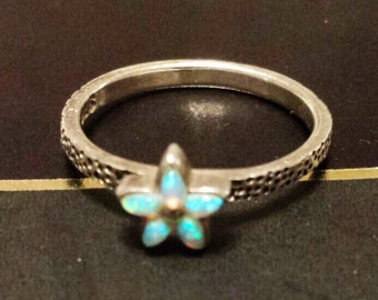 Sterling Silver .925 Opal Ring, Size 5.5