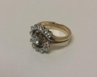 14K/18K White/Yellow Gold Diamond Ring