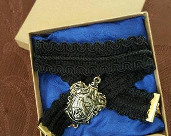 Hogwarts/House Crest Choker (Harry Potter)