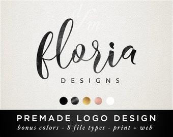 Premade Logo - Logo Design - Feminine Logo - Branding Design - Calligraphy Font - Photography Logo - Business Branding - Custom - Gold 68